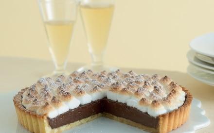 Crostata meringata con crema di cioccolato