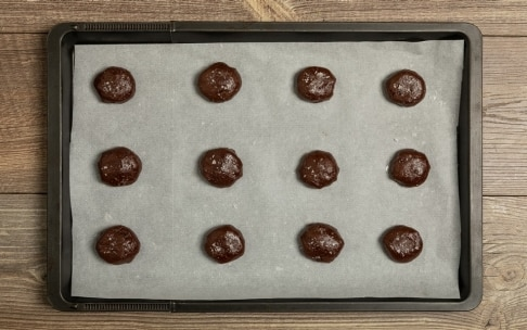Preparazione Biscotti alla Nutella, cioccolato e sale - Fase 4