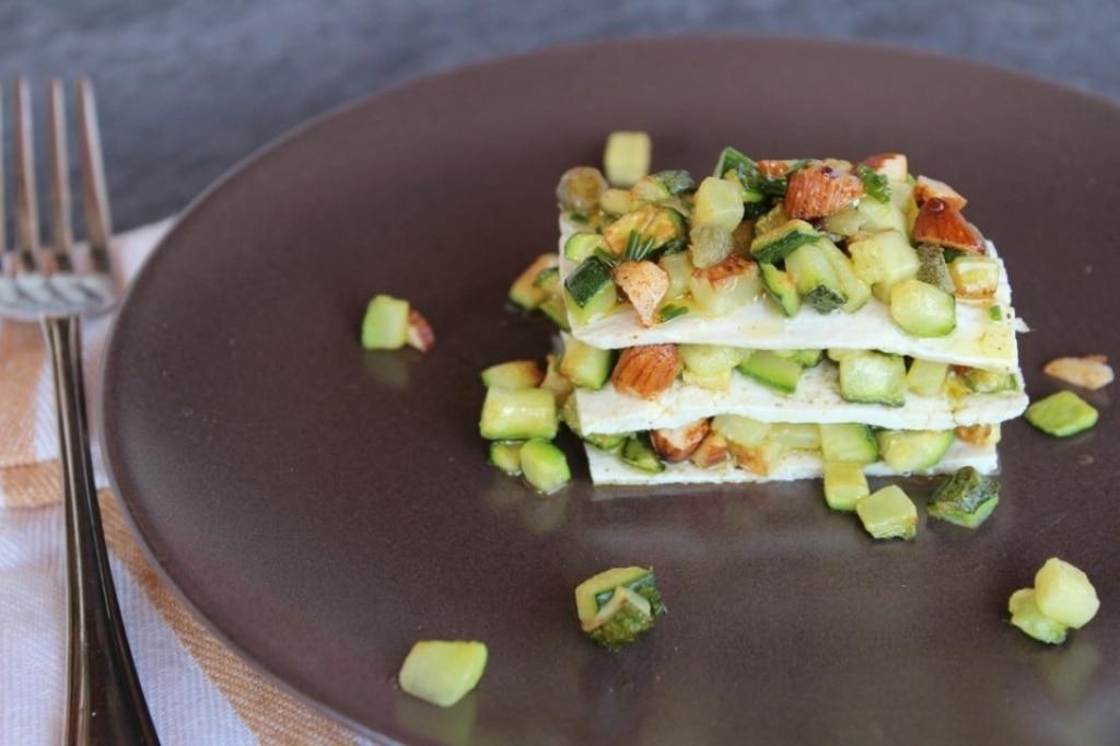 Millefoglie di tofu e zucchine