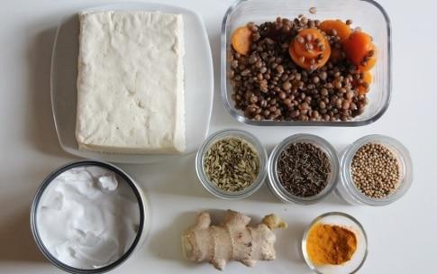 Preparazione Tofu e lenticchie alle spezie - Fase 1