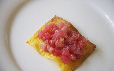 Preparazione Wonton e tartare di tonno al lime - Fase 2