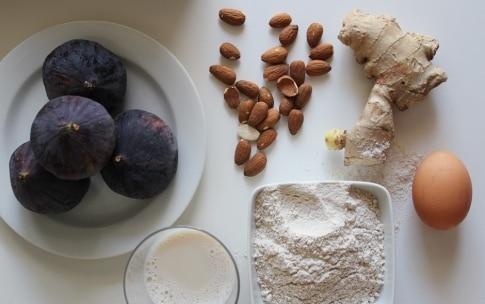 Preparazione Crostata alle mandorle con crema allo zenzero e fichi - Fase 1