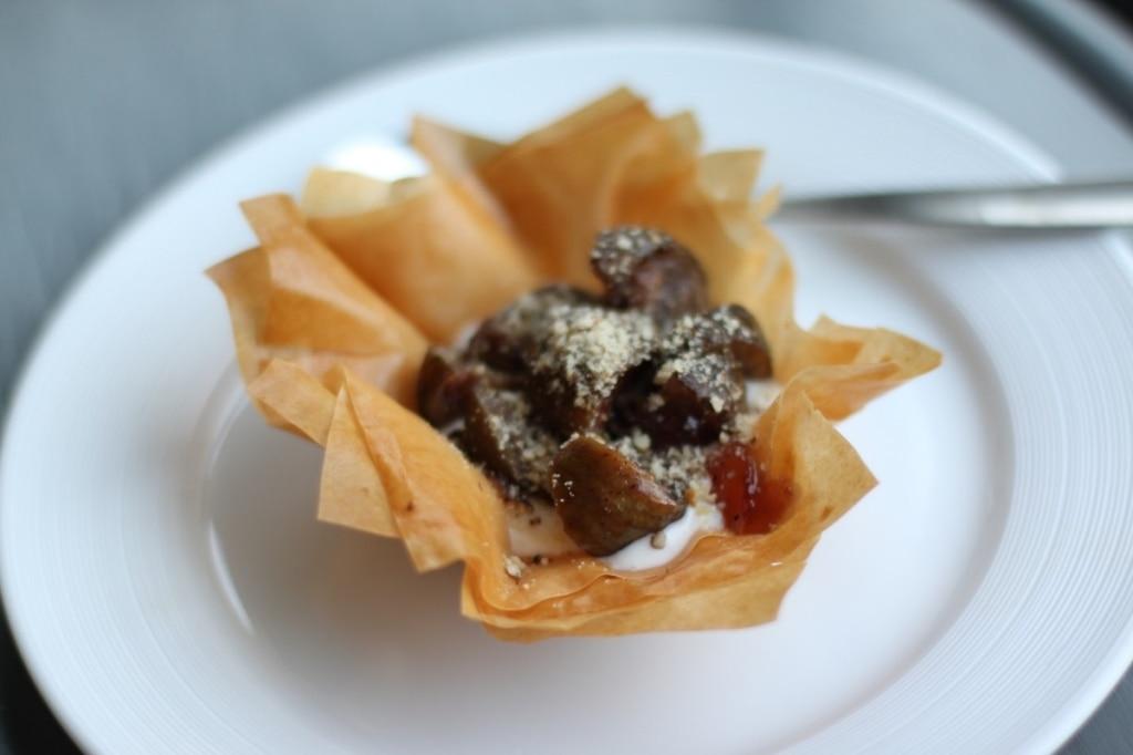 Fichi caramellati con crema mascarpone-yogurt