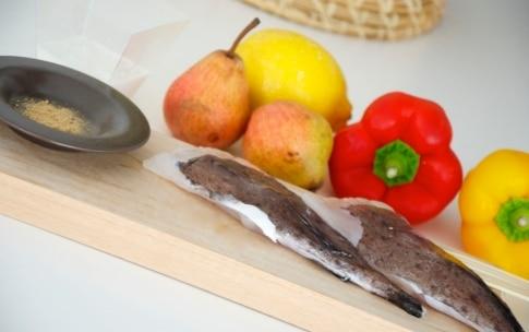 Preparazione Spiedino di coda di rospo con pere e peperoni - Fase 1
