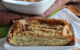 Clafoutis di finocchi e pere allo zenzero