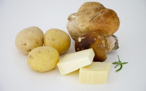 Preparazione Patate ripiene con Asiago e porcini - Fase 1