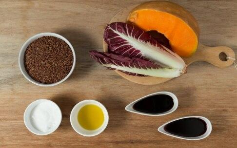 Preparazione Riso rosso con zucca caramellata e radicchio - Fase 1