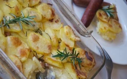Tortino di patate con pancetta e rosmarino
