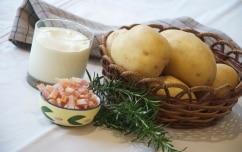 Preparazione Tortino di patate con pancetta e rosmarino - Fase 1