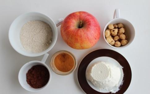 Preparazione Cialde croccanti al cacao con mele e nocciole  - Fase 1