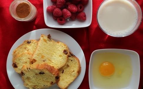 Preparazione French toast di panettone - Fase 1