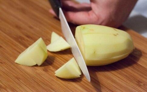 Preparazione Occhiata con pancetta croccante e purè di cavolfiore - Fase 2