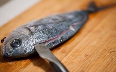 Preparazione Occhiata con pancetta croccante e purè di cavolfiore - Fase 3