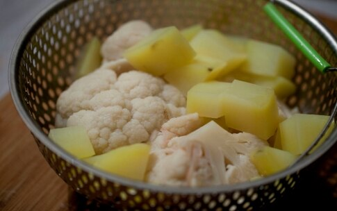 Preparazione Occhiata con pancetta croccante e purè di cavolfiore - Fase 8