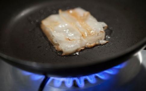 Preparazione Occhiata con pancetta croccante e purè di cavolfiore - Fase 10