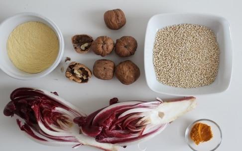 Preparazione Polpette di quinoa alla curcuma con radicchio e noci - Fase 1