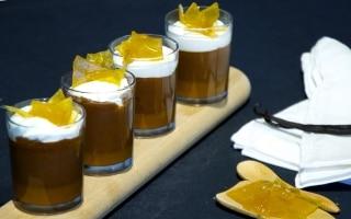 Bicchierini di cioccolato al caramello salato