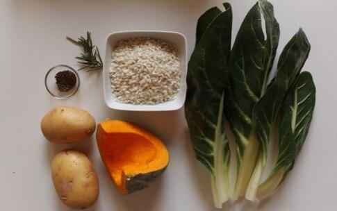 Preparazione Sformati di bietole con riso e crema di zucca al cumino - Fase 1