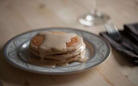 Pancake integrali con zabaione all'aceto balsamico