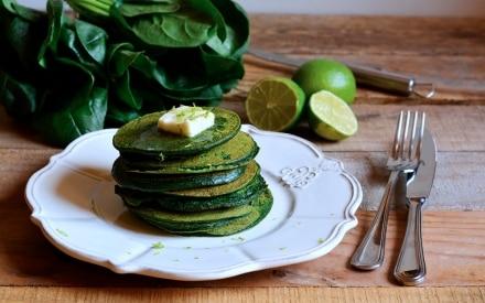 Pancake verdi al burro di lime
