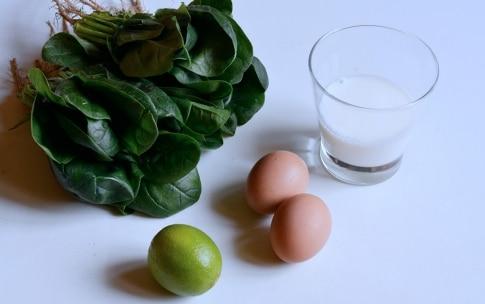 Preparazione Pancake verdi al burro di lime - Fase 1
