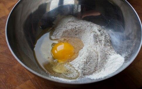 Preparazione Ravioli di grano saraceno con melanzane e burro alla menta - Fase 1