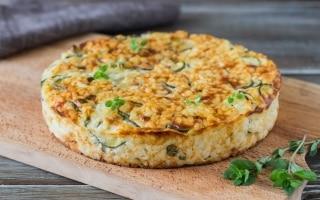 Torta di riso e zucchine alla maggiorana