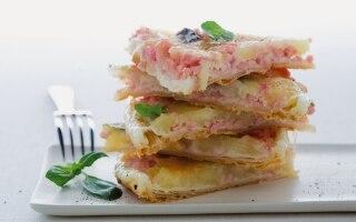 Clafoutis di mozzarella, prosciutto e...