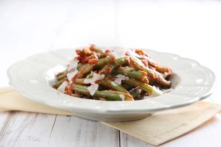 Fagiolini al pomodoro e pecorino