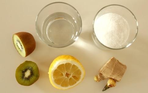 Preparazione Ghiaccioli allo zenzero con limone e kiwi - Fase 1