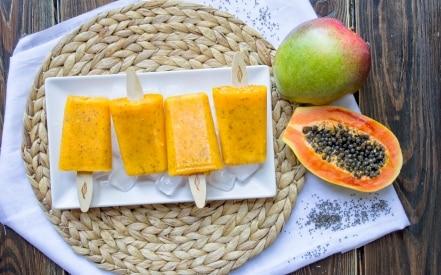 Stecco gelato ai frutti esotici e semi di Chia