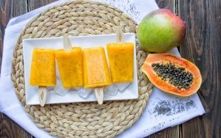 Stecco gelato ai frutti esotici e semi di...