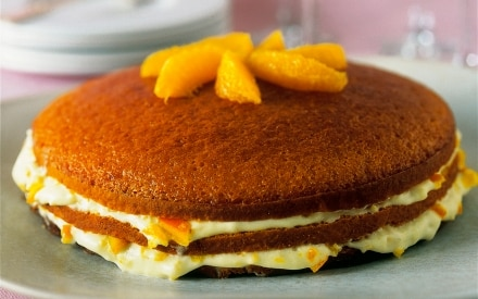 Torta al cioccolato alla crema d'arancia
