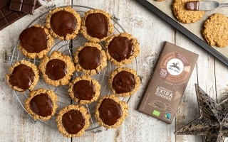 Biscotti integrali all'avena e cioccolato