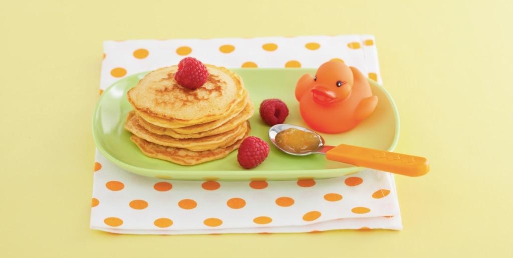 Pancake di biscotti con confettura