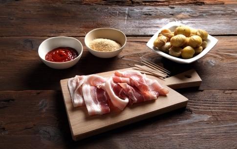Preparazione Bocconcini di castagne e bacon - Fase 1