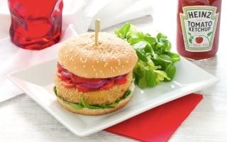 Burger vegano di ceci e verdure
