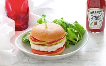Hamburger di tacchino e mela verde