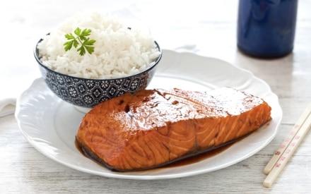 Salmone teriyaki