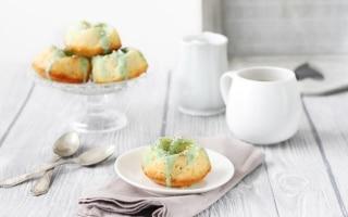 Ciambelline alle mandorle con glassa al tè...