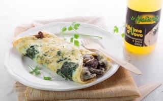 Omelette spinaci e funghi