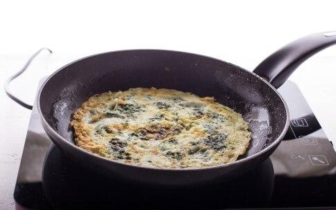 Preparazione Omelette spinaci e funghi - Fase 2
