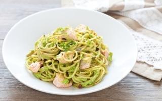 Spaghetti integrali piccanti al salmone,...
