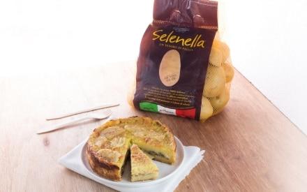Tortino con patate, funghi e fontina