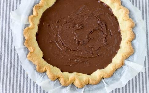 Preparazione Crostata con ganache al cioccolato e crema al mascarpone  - Fase 4