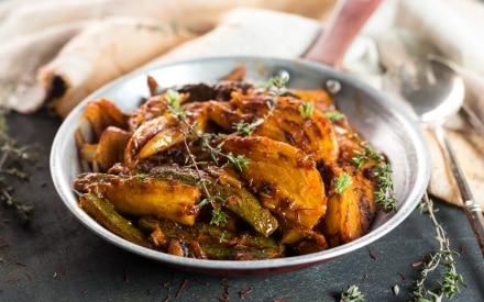 Finocchi e zucchine brasati