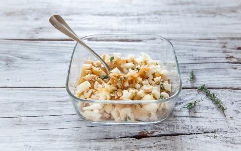 Preparazione Fagottini di pasta fillo con pollo, mele e formaggio - Fase 2