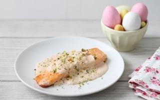 Salmone cremoso ai pistacchi