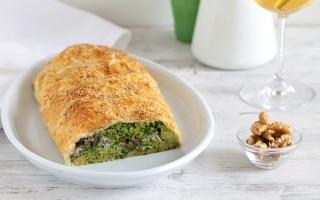 Strudel salato di broccoli,...