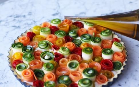 Preparazione Torta di rose salata con verdure - Fase 5